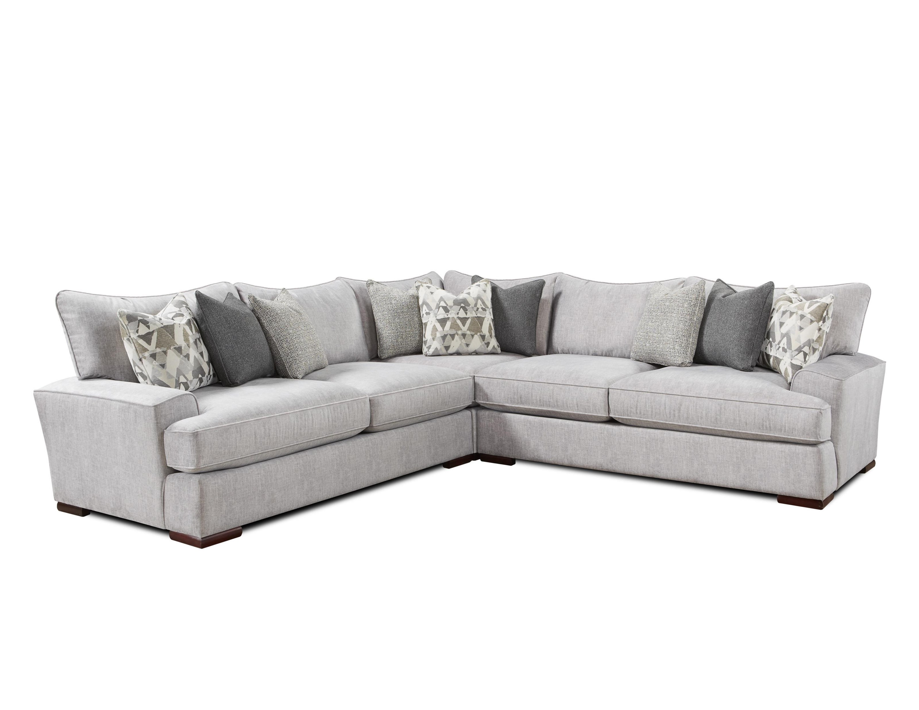 Fusion Furniture Silver Mountain L-Shaped Sectional  - Item Number: 2000+2001+2005ALTON SILVER