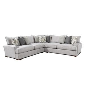 Fusion Furniture Silver Mountain L-Shaped Sectional