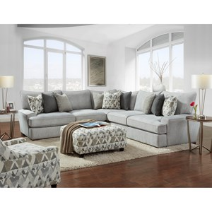 Fusion Furniture Alton Silver Stationary Living Room Group