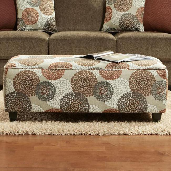 Cornell Cocoa Ottoman by Kent Home Furnishings at Johnny Janosik