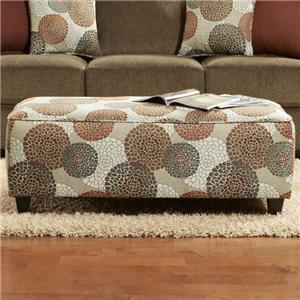 Fusion Furniture Cornell Cocoa Ottoman