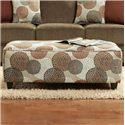 Fusion Furniture Cornell Cocoa Ottoman - Item Number: 100