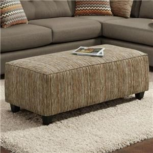 Fusion Furniture Fandango Mocha Kinetic Haze Rectangular Ottoman