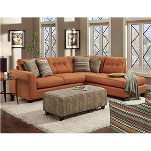 Fusion Furniture Fandango Flame Stationary Living Room Group