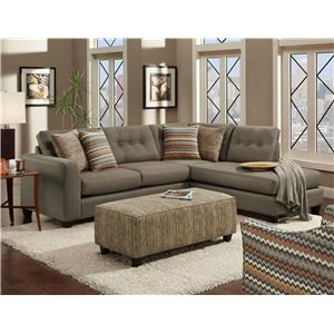 Fusion Furniture Fandango Mocha Stationary Living Room Group