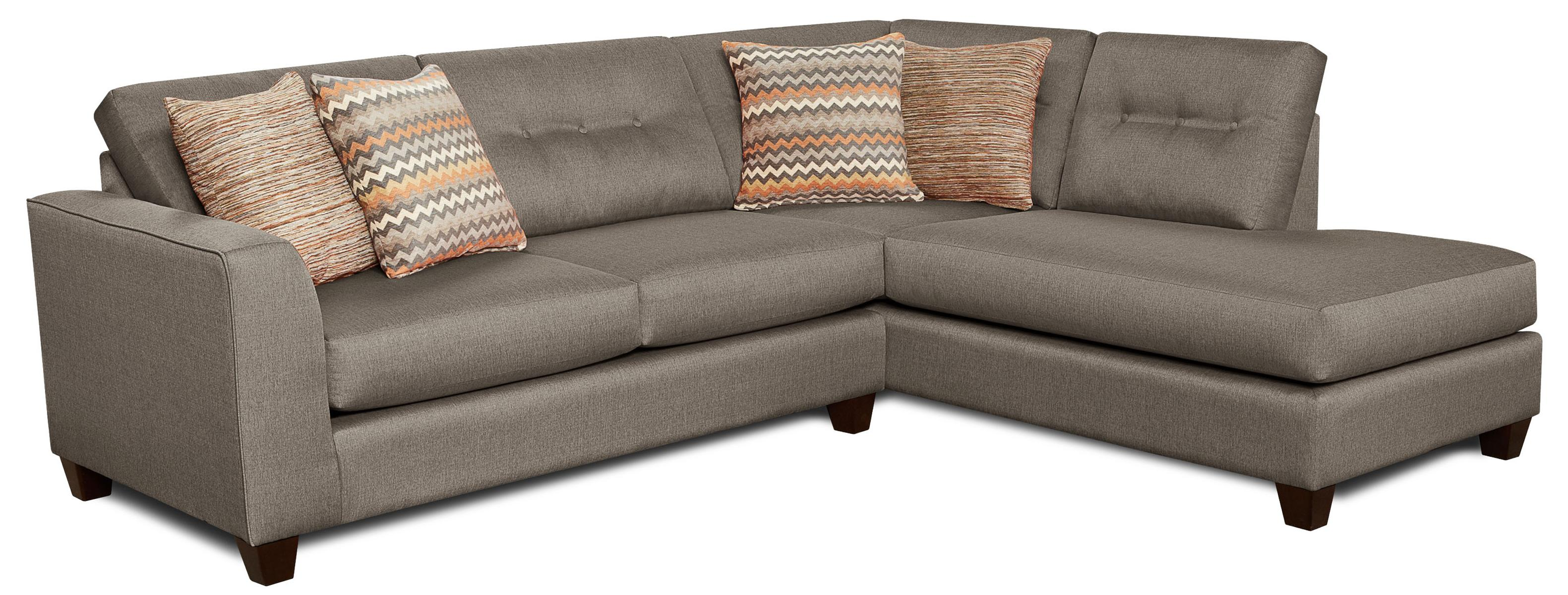 Fusion Furniture Fandango Mocha Sectional Sofa - Item Number: 1515+1516 Mocha