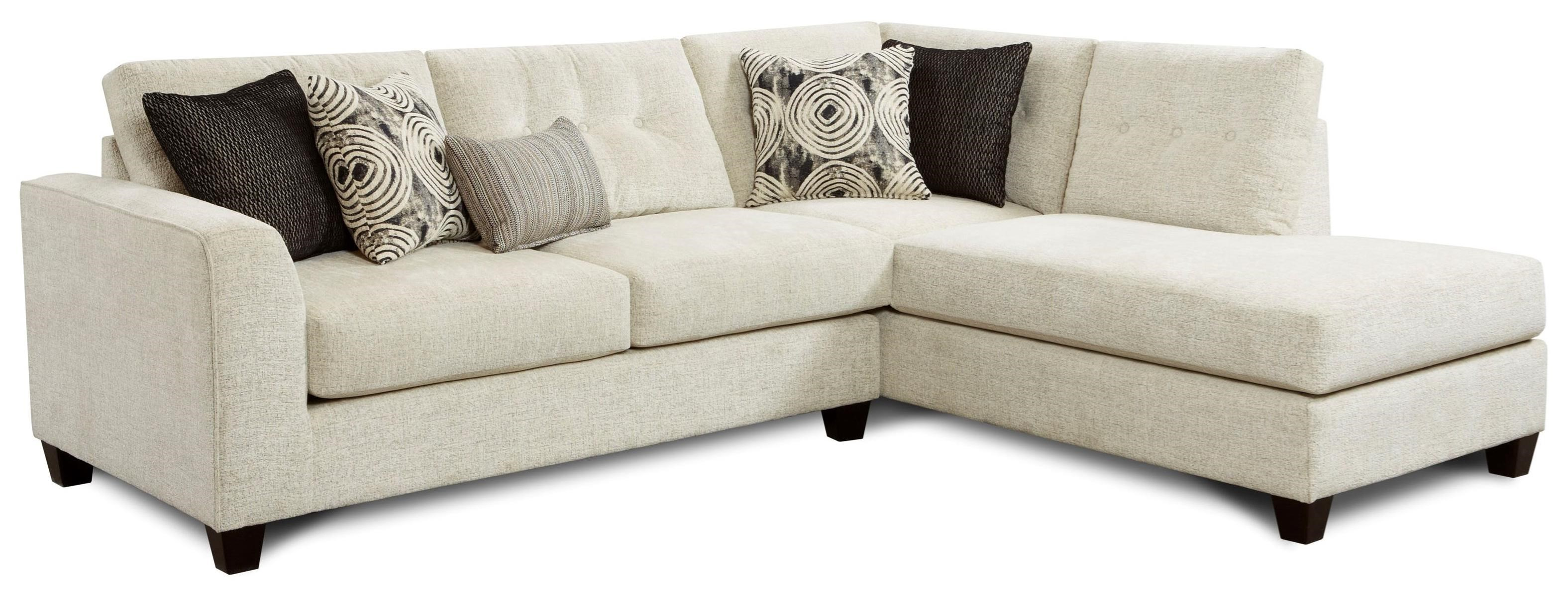 Fusion Furniture 1515 1516 Sectional Sofa   Item Number: 1515 KPPlushtones  Linen+