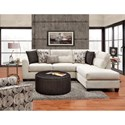 Fusion Furniture 1515-1516 Contemporary Sectional Sofa with Right Arm Facing Chaise