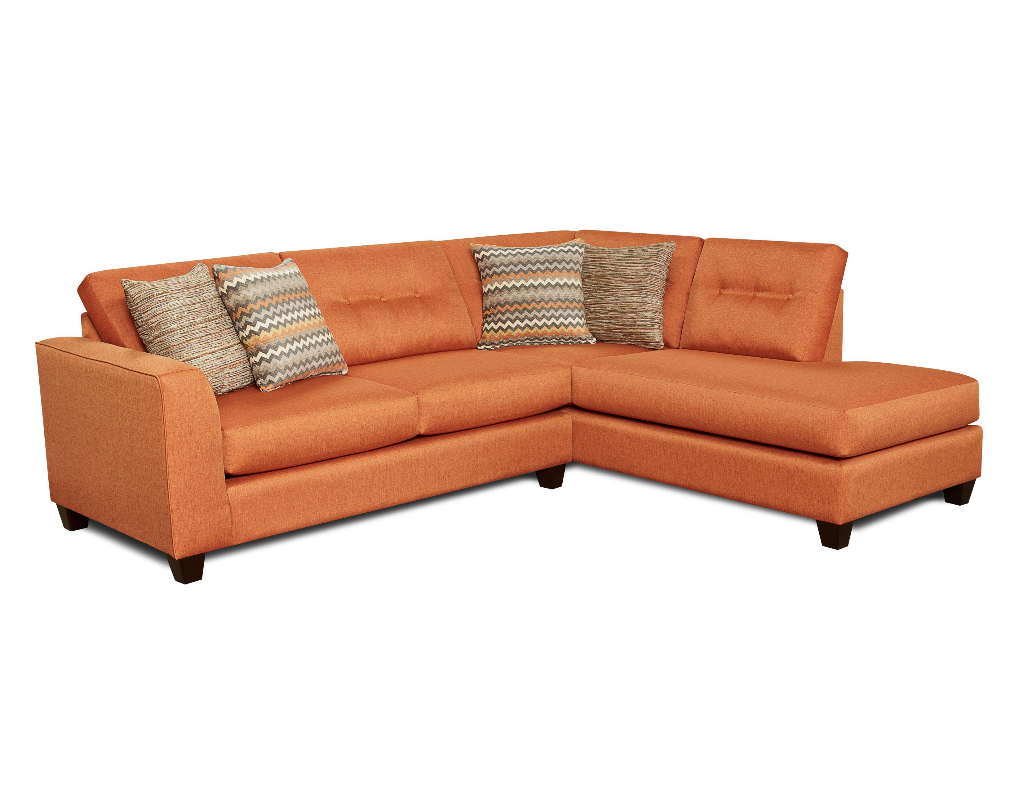 Fusion Furniture Reaction Sectional Sofa - Item Number: 1515+1516