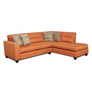 Fusion Furniture Fandango Flame *CLEARANCE* Sectional Sofa