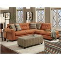 Fusion Furniture Reaction Contemporary Sectional Sofa with Right Arm Facing Chaise