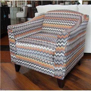 Fusion Furniture Fandango Mocha Reaction Haze Accent Chair