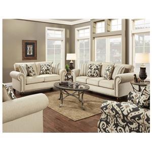 Fusion Furniture Fairly Sand Sofa & Loveseat