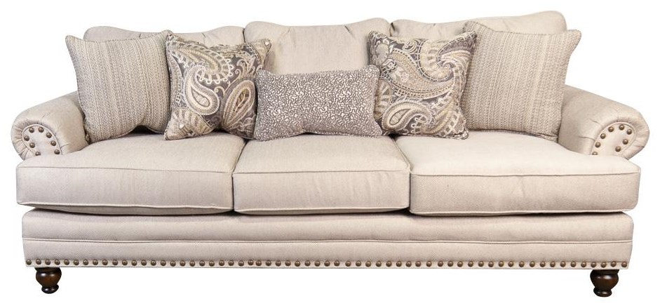 Kerry Kerry Sofa with Accent Pillows by Fusion Furniture at Morris Home