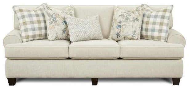 Mitra Mitra Sofa with Accent Pillows by Fusion Furniture at Morris Home