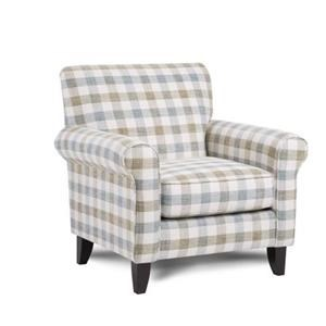 Mitra Plaid Accent Chair