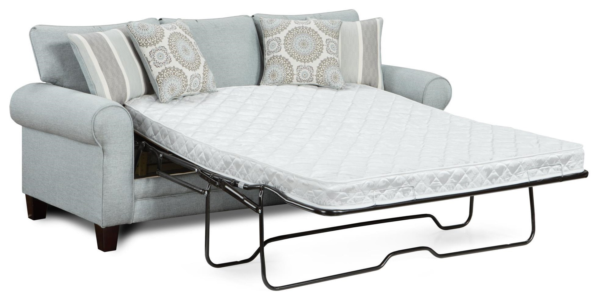 Fusion Furniture Mysteria Queen Sleeper With Accent Pillows Morris Home Sleeper Sofas