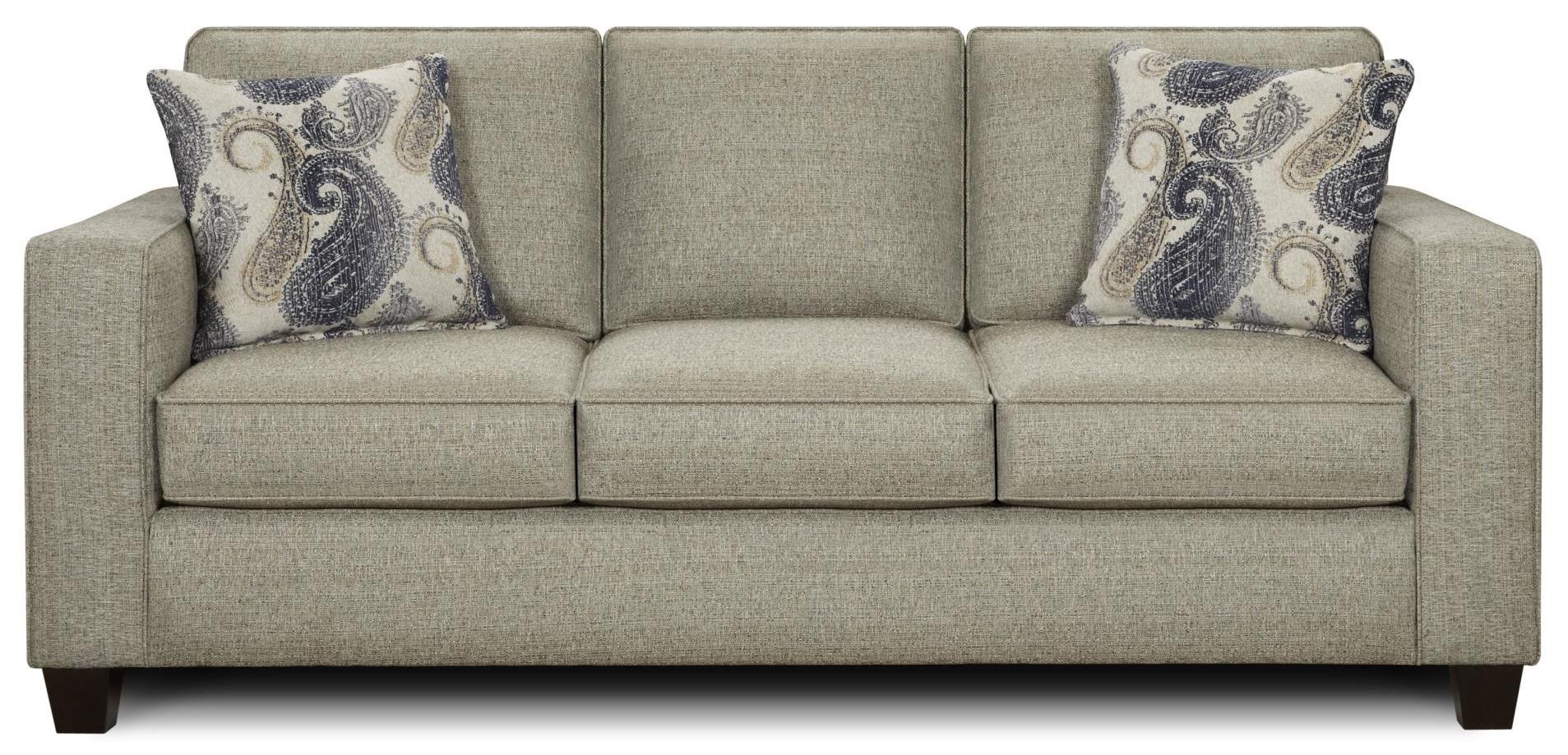 Fusion Furniture 3560 Sofa - Item Number: 3560Vibrant Smoke