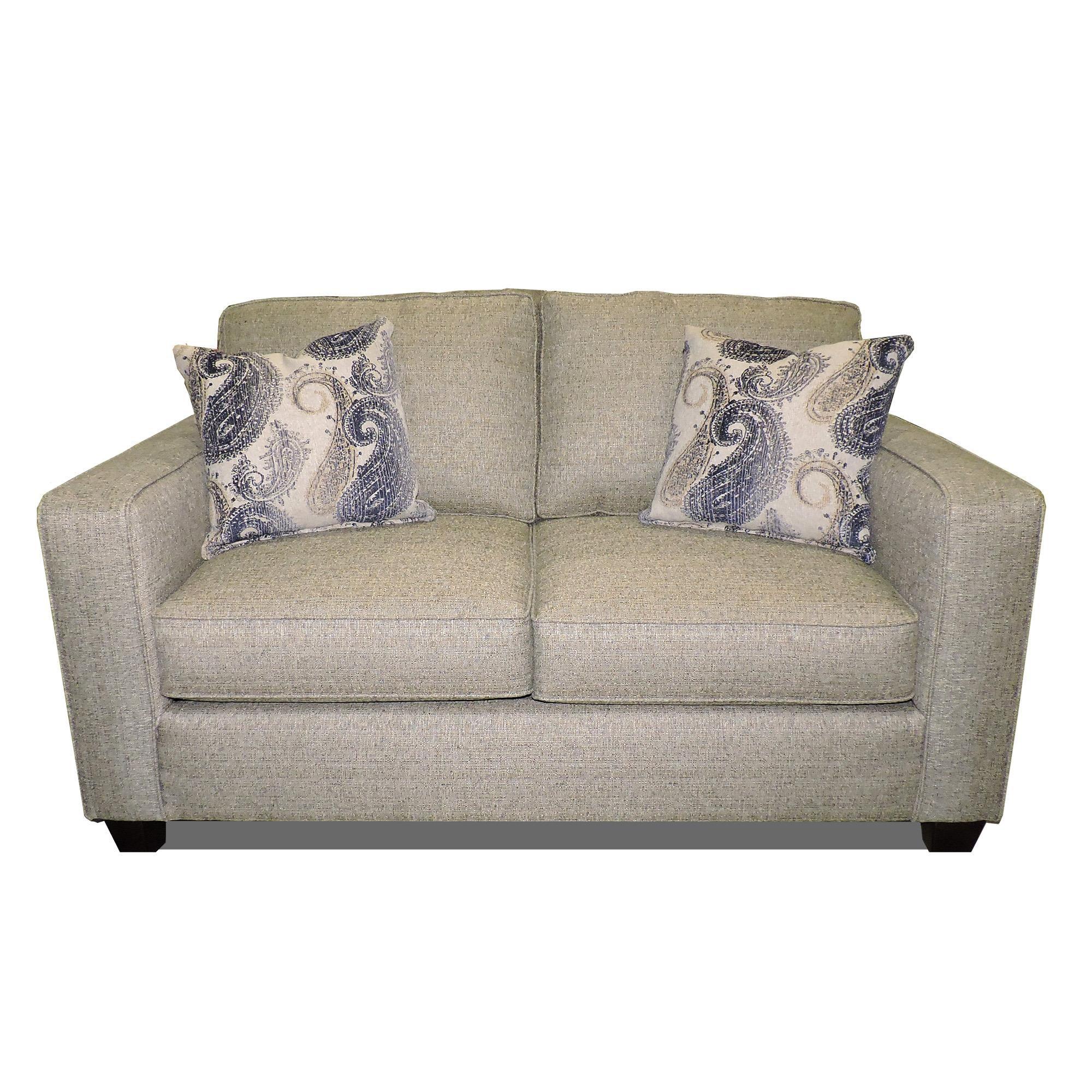 Fusion Furniture 3560 Loveseat - Item Number: 3561Vibrant Smoke