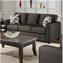 Fusion Furniture 3560 Casual Three Cushion Sofa Sleeper - Sofa Shown May Not Represent Exact Features Indicated