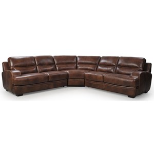Futura Leather 10015 Sectional Sofa