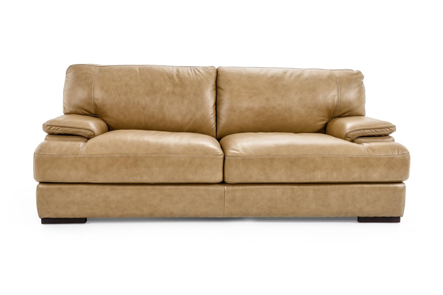 Futura Leather 10027 Sofa - Item Number: 10027-30 1432S NASSAU