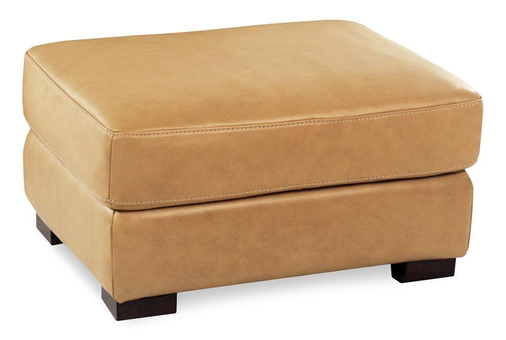 Loft Leather Nassau Leather Ottoman - Item Number: 10027-60-NASSAUTAN