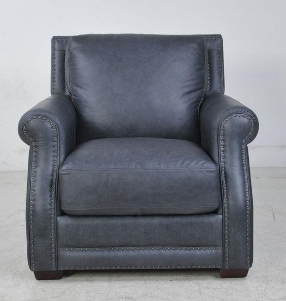 Futura Leather 10030 Fusion Charcoal Leather Chair - Item Number: FUTU-10030-10 2692 S