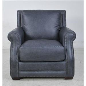 Futura Leather Fusion Fusion Charcoal Leather Chair
