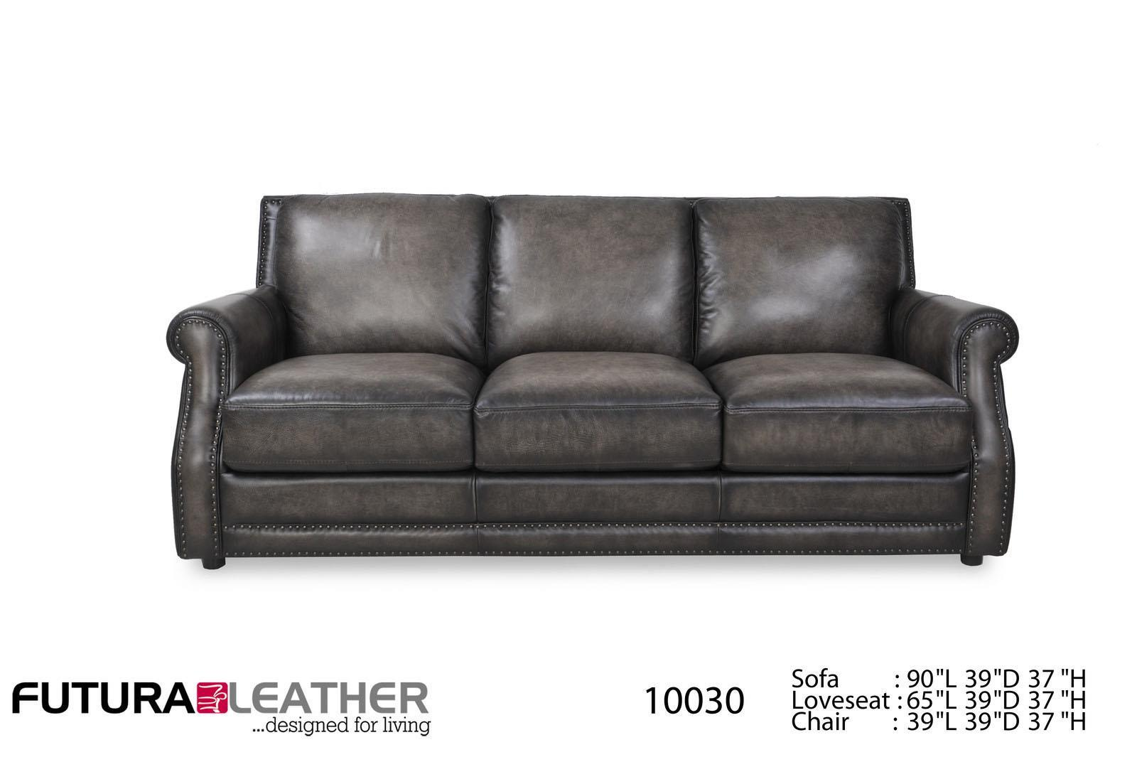 Charcoal Leather Sofa Charcoal Top Grain Vintage Leather
