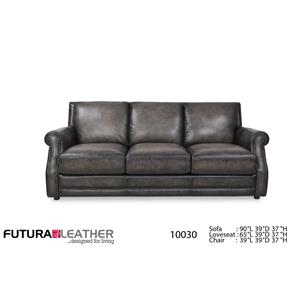 Futura Leather 10030 Fusion Charcoal Leather Sofa