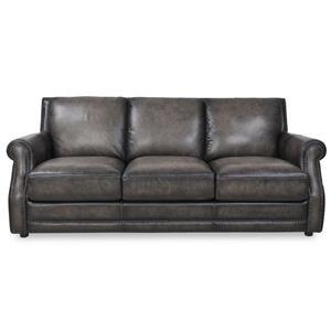 Fusion Charcoal Leather Sofa
