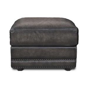 Futura Leather 10030 Fusion Charcoal Leather Ottoman