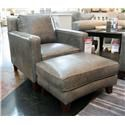 Futura Leather Abilene Leather Chair & Ottoman - Item Number: GRP-10052-CO