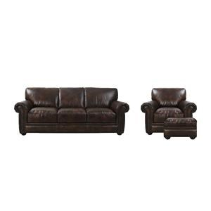 Futura Leather McGregor Sofa, Chair, and Ottoman