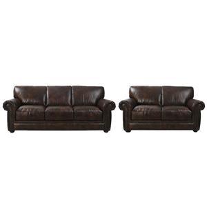 Futura Leather McGregor Leather Sofa and Loveseat