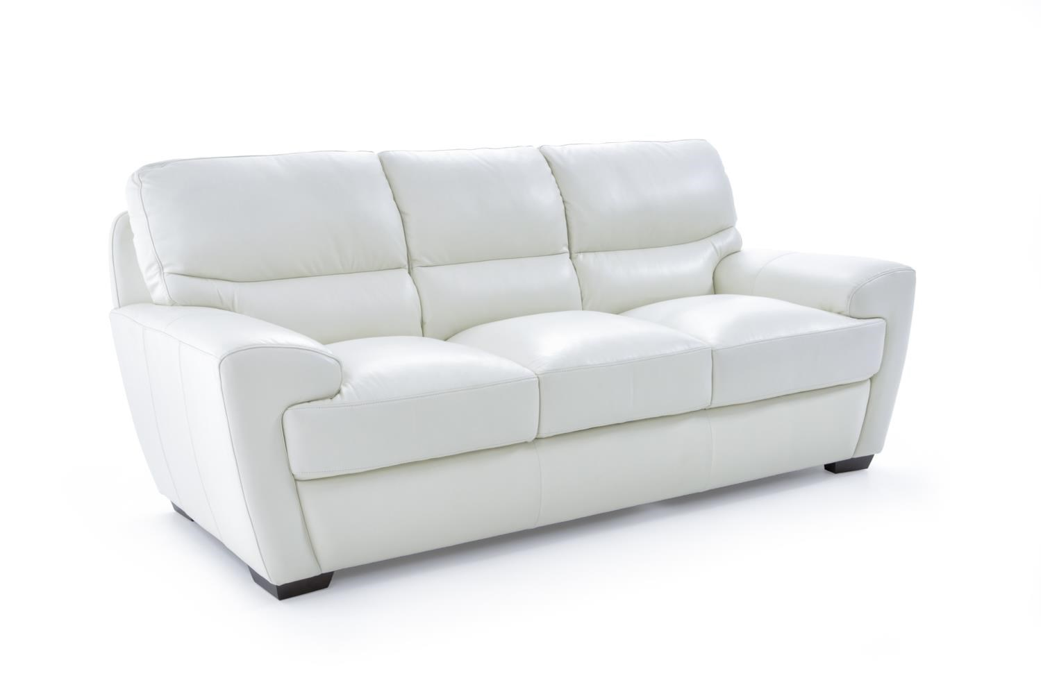 Futura Leather 10131 10131 30 1296s Contemporary Sofa With