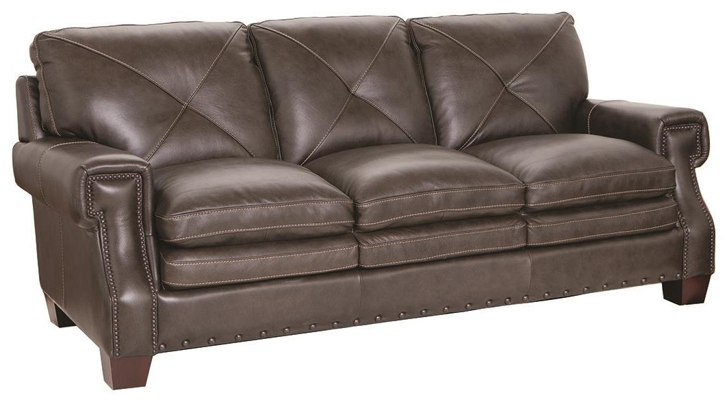 1029 100% Leather Sofa by Futura Leather at Darvin Furniture