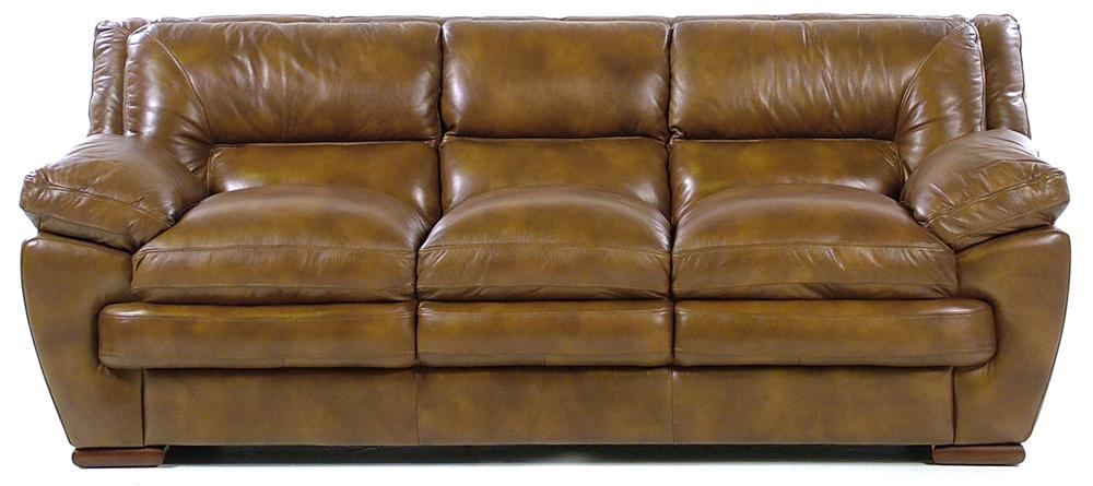 Loft Leather Carlos 3-Seater Stationary Sofa - Item Number: 6788-A30