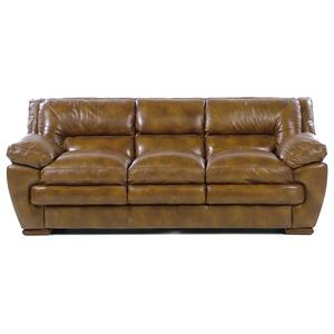 Loft Leather Carlos 3-Seater Stationary Sofa