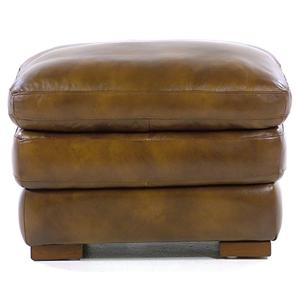 Loft Leather Carlos Ottoman