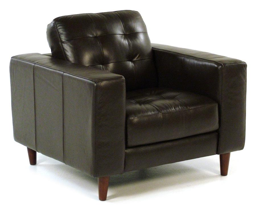 Loft Leather Benjamin Contemporary Leather Chair - Item Number: 8424-10