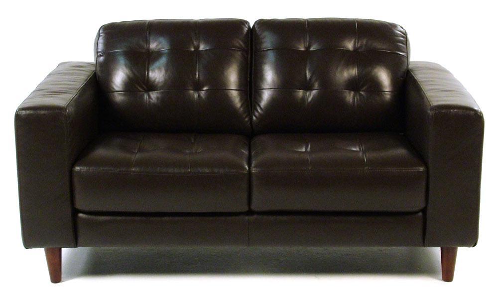 Loft Leather Benjamin Contemporary Leather Loveseat - Item Number: 8424-20