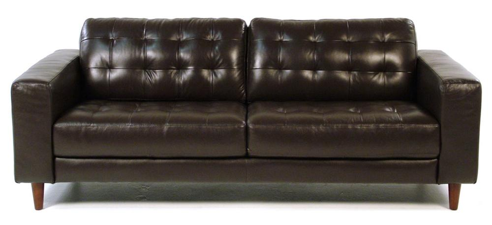 Loft Leather Benjamin Contemporary Leather Sofa - Item Number: 8424-30