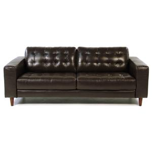 Loft Leather Benjamin Contemporary Leather Sofa