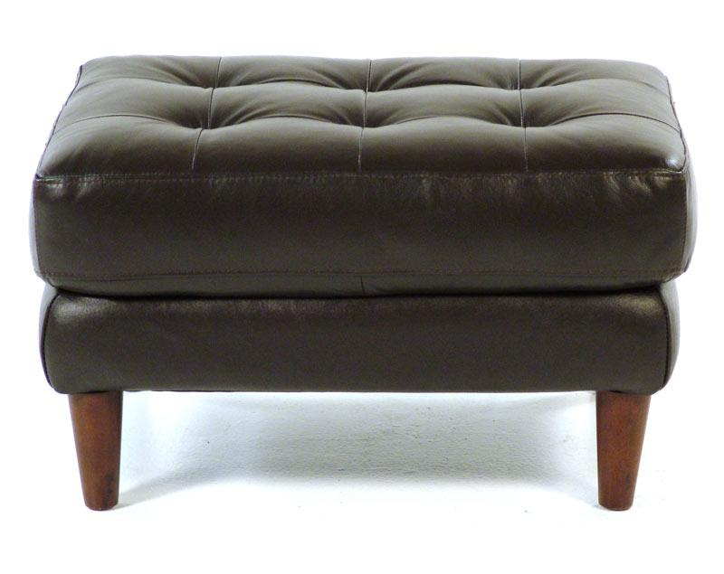 Loft Leather Benjamin Contemporary Leather Ottoman - Item Number: 8424-60