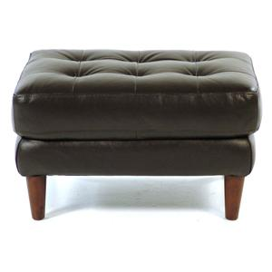 Loft Leather Benjamin Contemporary Leather Ottoman