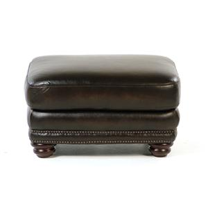 Loft Leather Kirkland Leather Ottoman