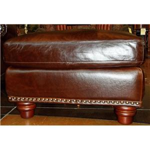 Futura Leather 7031 1941S Rialto Coffee Leather Ottoman