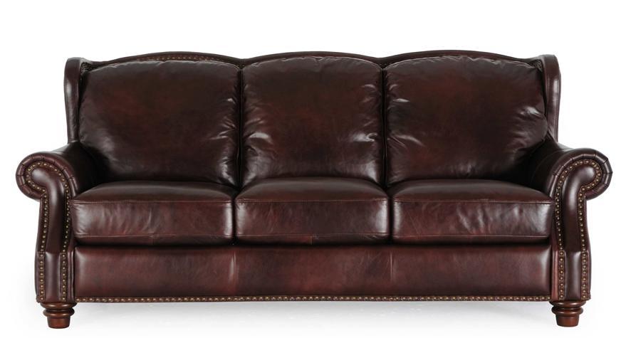Futura Leather Rialto Coffee Rialto Coffee Leather Sofa - Item Number: 7031 Sofa